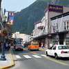 The street view at the Port of Juneau, Alaska.