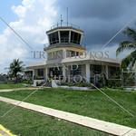 Air Traffic Control Tower at Busuanga Airport, Coron Island, Palawan, Philippines.