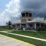 Air Traffic Control Tower at Busuanga Airport terminal in Coron, Palawan, Philippines.